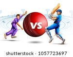 illustration of batsman and... | Shutterstock .eps vector #1057723697