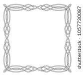 celtic square frame. | Shutterstock .eps vector #1057730087