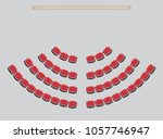 top view show seat in the... | Shutterstock .eps vector #1057746947