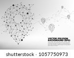 vector travel network pin mark... | Shutterstock .eps vector #1057750973