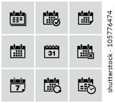 Calendar icons set. - stock vector