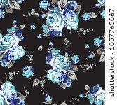shabby chic vintage roses... | Shutterstock .eps vector #1057765067