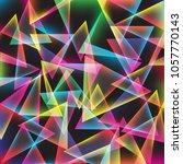 vibrant geometric triangle full ... | Shutterstock .eps vector #1057770143
