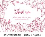 floral background. hand drawn... | Shutterstock .eps vector #1057771067