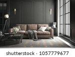 interior living room studio ... | Shutterstock . vector #1057779677