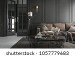 interior living room studio ... | Shutterstock . vector #1057779683