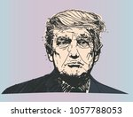 march 30  2018. donald trump  ... | Shutterstock .eps vector #1057788053