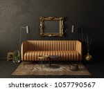 black  living room  with brown... | Shutterstock . vector #1057790567