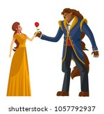 classic tale of princess and... | Shutterstock .eps vector #1057792937