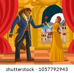 classic tale of princess and... | Shutterstock .eps vector #1057792943