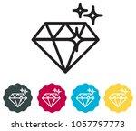 precious moment diamond icon as ... | Shutterstock .eps vector #1057797773