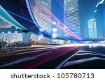 the light trails on the modern... | Shutterstock . vector #105780713