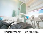 the white interior of a dentist ... | Shutterstock . vector #105780803
