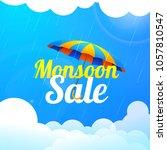 monsoon season sale with...   Shutterstock .eps vector #1057810547