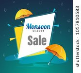 monsoon season sale poster  or... | Shutterstock .eps vector #1057810583