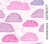 pink and violet clouds seamless ... | Shutterstock .eps vector #105781577