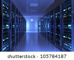 modern interior of server room... | Shutterstock . vector #105784187