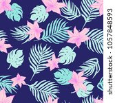 exotic floral  pattern... | Shutterstock .eps vector #1057848593