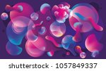 3d abstract background on the... | Shutterstock . vector #1057849337