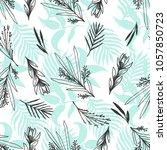 floral botanical seamless... | Shutterstock .eps vector #1057850723
