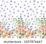 seamless floral border.... | Shutterstock . vector #1057876667