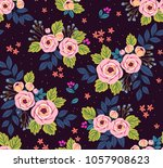 floral seamless pattern with... | Shutterstock .eps vector #1057908623