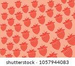 strawberries vector background | Shutterstock .eps vector #1057944083