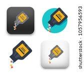 illustration of capsules icon | Shutterstock .eps vector #1057956593