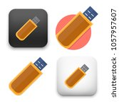 flat vector icon   illustration ... | Shutterstock .eps vector #1057957607