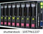 check hard disk server status | Shutterstock . vector #1057961237