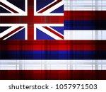 great britain flag vector... | Shutterstock .eps vector #1057971503