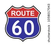us route 60 sign  shield sign... | Shutterstock .eps vector #1058017043