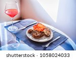 food. meat. pork or chicken or... | Shutterstock . vector #1058024033