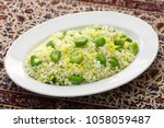baghali polo  fava beans rice ... | Shutterstock . vector #1058059487