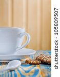 coffee cup and cookies | Shutterstock . vector #105809507