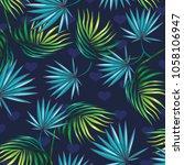 tropical floral pattern design  ...   Shutterstock .eps vector #1058106947