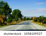 green trees and plants grow... | Shutterstock . vector #1058109527