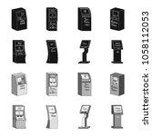 medical terminal  atm for... | Shutterstock .eps vector #1058112053