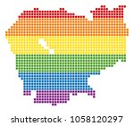 a pixel lgbt pride cambodia map ... | Shutterstock .eps vector #1058120297