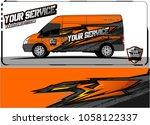 van graphic kit. abstract...   Shutterstock .eps vector #1058122337