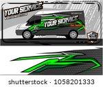 abstract van graphic kit for... | Shutterstock .eps vector #1058201333