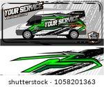 abstract van graphic kit for... | Shutterstock .eps vector #1058201363