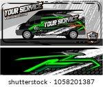 abstract van graphic kit for... | Shutterstock .eps vector #1058201387