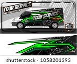 abstract van graphic kit for... | Shutterstock .eps vector #1058201393
