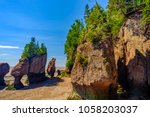low tide on the bay of fundy... | Shutterstock . vector #1058203037