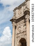 Small photo of Vertical picture of the The Arch of Constantine (Italian: Arco di Constantino), is a important trademark, located in Rome situated between the Colosseum and the Palatine Hill.