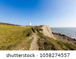 st catherine's lighthouse on... | Shutterstock . vector #1058274557