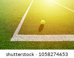 soft focus of tennis ball on... | Shutterstock . vector #1058274653