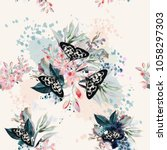 beautiful artistic pattern with ... | Shutterstock .eps vector #1058297303
