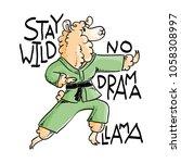 karate animal in kimono  raster ... | Shutterstock . vector #1058308997